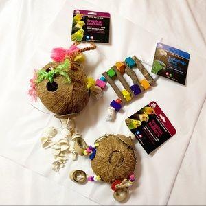 Medium Pet Bird Parrot Toys 3 Peices